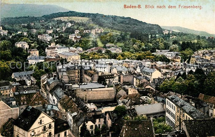 AK / Ansichtskarte Baden Baden Blick vom Friesenberg Kat. Baden Baden