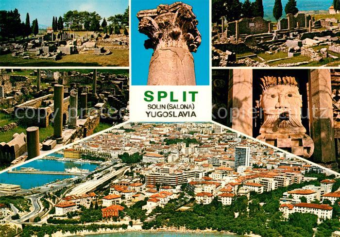 AK / Ansichtskarte Split Spalato Ruinen Panorama Kat. Split