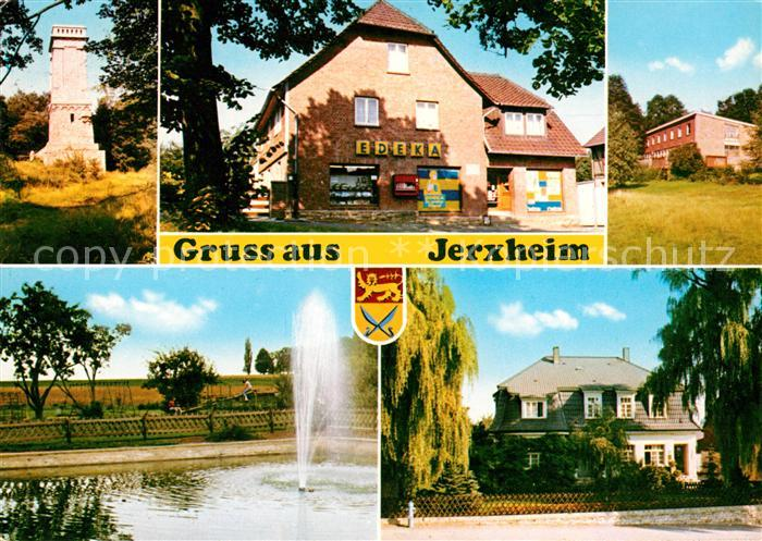AK / Ansichtskarte Jerxheim Gemischtwaren Springbrunnen Turm Kat. Jerxheim