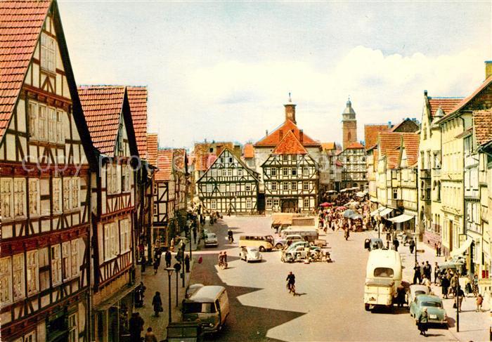AK / Ansichtskarte Eschwege Marktplatz Rathaus Kat. Eschwege