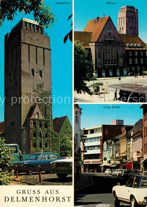 AK / Ansichtskarte Delmenhorst Wasserturm Rathaus Lange Strasse Kat. Delmenhorst