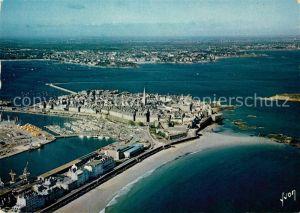 AK / Ansichtskarte Saint Malo Ille et Vilaine Bretagne Vue generale aerienne sur la Ville fortifiee ancienne Cite Corsaire Kat. Saint Malo