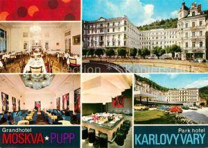 AK / Ansichtskarte Karlovy Vary Grandhotel Moskva Pupp Park Hotel Karlovy Vary Kat. Karlovy Vary Karlsbad