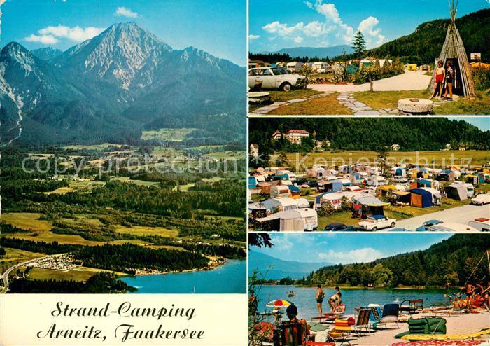 AK / Ansichtskarte Faakersee Strand Camping Arneitz Panorama Strand Kat. Villach