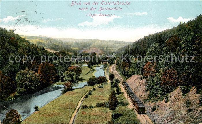 AK / Ansichtskarte Vogtlaendische Schweiz Blick von der Elstertalbruecke zur Barthmuehle Kat.