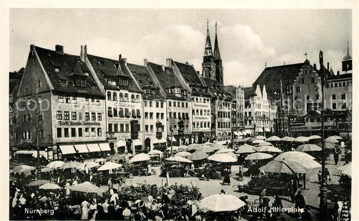 AK / Ansichtskarte Nuernberg Adolf Hitler Platz Kat. Nuernberg