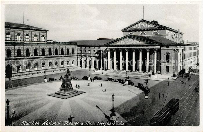 AK / Ansichtskarte Muenchen National Theater Max Josephs Platz Kat. Muenchen