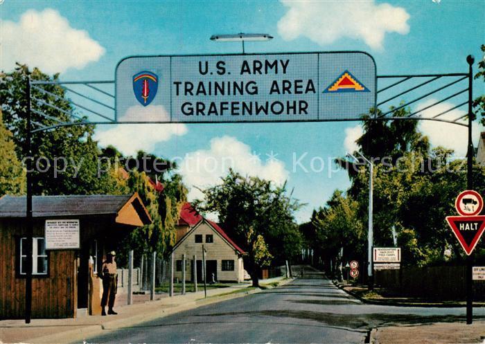 AK / Ansichtskarte Grafenwoehr Truppenuebungsplatz U.S. Army  Kat. Grafenwoehr