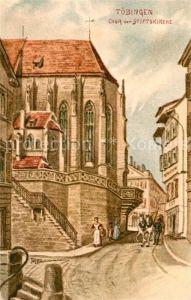 AK / Ansichtskarte Tuebingen Chor der Stiftskirche Kuenstlerkarte Kat. Tuebingen