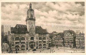 AK / Ansichtskarte Stuttgart Rathaus Kat. Stuttgart