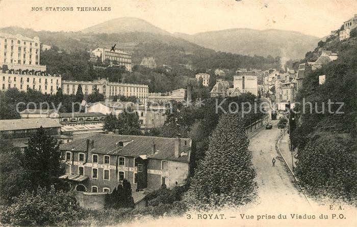 AK / Ansichtskarte Royat les Bains Vue prise du Viaduc du P.O. 0
