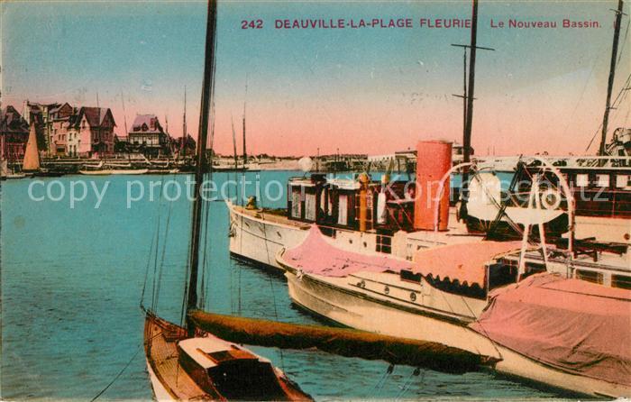 AK / Ansichtskarte Deauville Le Nouveau Bassin Kat. Deauville
