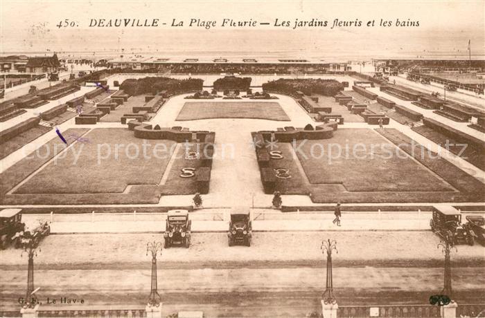 AK / Ansichtskarte Deauville Les Jardins fleuries et les bains Kat. Deauville