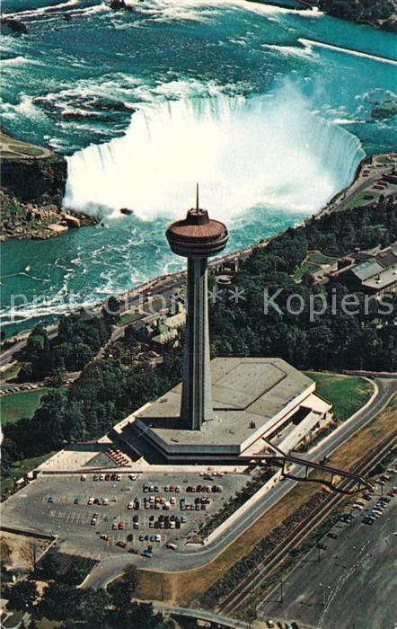 AK / Ansichtskarte Niagara Falls Ontario Skylon Tower and Pavilion Fliegeraufnahme Kat. Niagara Falls Canada