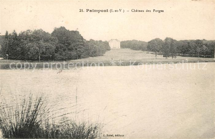AK / Ansichtskarte Paimpont Chateau des Forges Kat. Paimpont