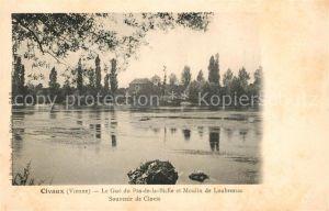 AK / Ansichtskarte Civaux Le Gue du Pas de la Biche et Moulin de Loubressac Kat. Civaux