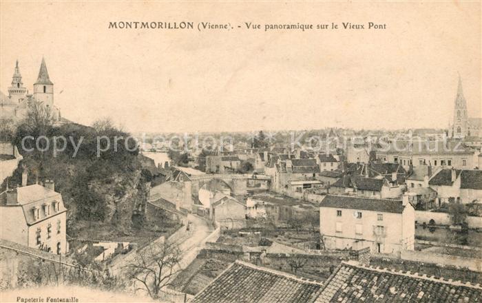 AK / Ansichtskarte Montmorillon Vue panoramique sur le vieux pont Kat. Montmorillon