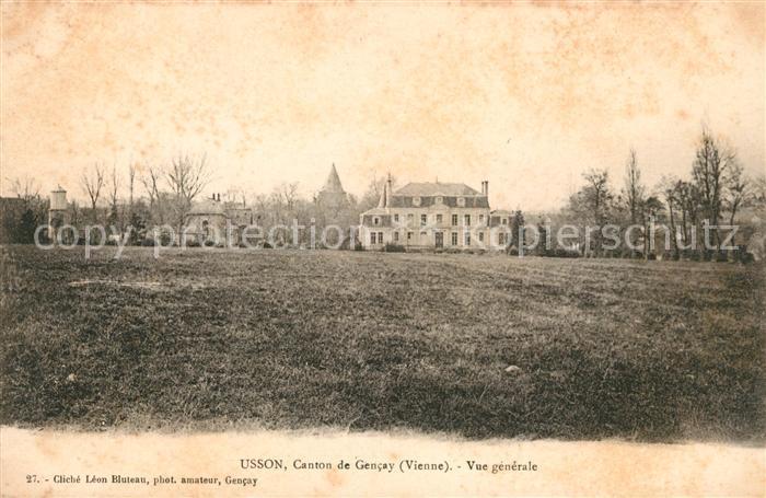 AK / Ansichtskarte Usson du Poitou Vue generale Kat. Usson du Poitou