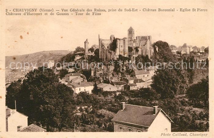 AK / Ansichtskarte Chauvigny Ruines Chateau Eglise Tour Kat. Chauvigny