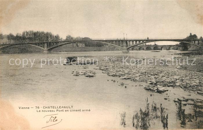 AK / Ansichtskarte Chatellerault Nouveau Pont en ciment arme Kat. Chatellerault