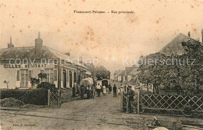 AK / Ansichtskarte Peronne Saone et Loire Flamicourt Rue principale Kat. Peronne