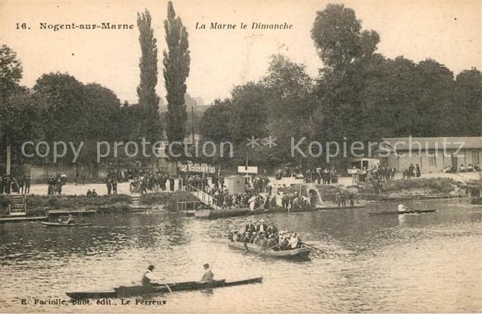 AK / Ansichtskarte Nogent sur Marne La Marne le Dimanche Kat. Nogent sur Marne