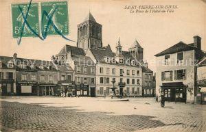 AK / Ansichtskarte Saint Pierre sur Dives La Place Hotel de Ville Kat. Saint Pierre sur Dives