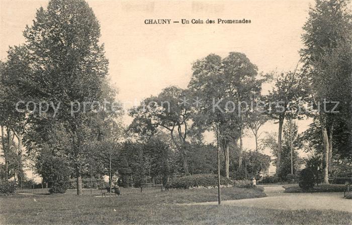 AK / Ansichtskarte Chauny Aisne Un coin des promenades Kat. Chauny
