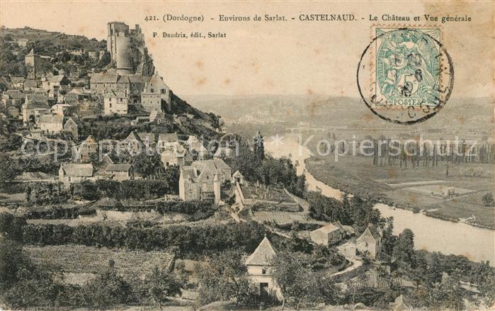 AK / Ansichtskarte Castelnaud la Chapelle Vue generale et le chateau Kat. Castelnaud la Chapelle