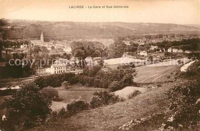 AK / Ansichtskarte Lalinde La Gare et vue generale Kat. Lalinde