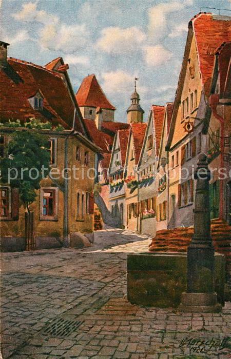 AK / Ansichtskarte Rothenburg Tauber Am alten Keller Kuenstlerkarte Marschall Kat. Rothenburg ob der Tauber