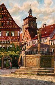 AK / Ansichtskarte Rothenburg Tauber Meistertrunk Kuenstler Marschall Kat. Rothenburg ob der Tauber