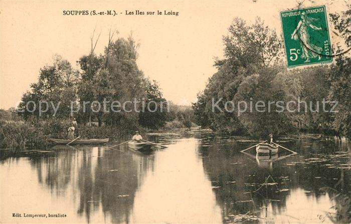 AK / Ansichtskarte Souppes sur Loing Les Iles sur le Loing Kat. Souppes sur Loing