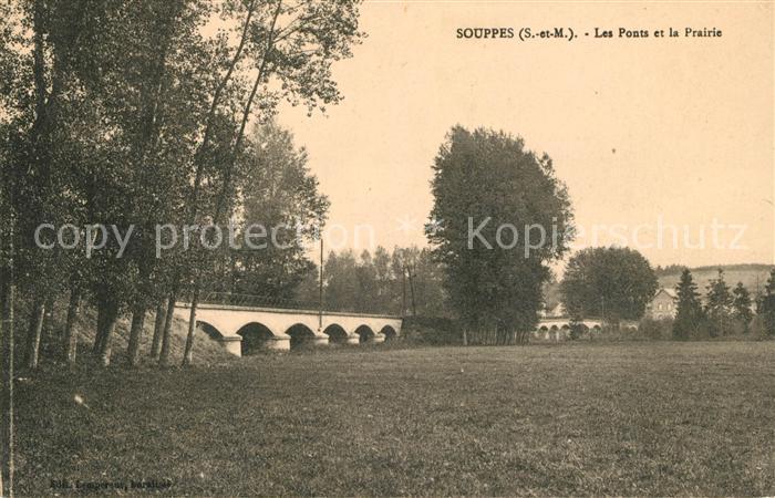 AK / Ansichtskarte Souppes sur Loing Le Ponts et la Prairie Kat. Souppes sur Loing