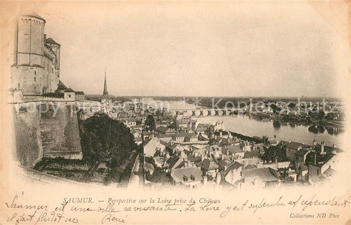 AK / Ansichtskarte Saumur Loire prise du Chateau Kat. Saumur
