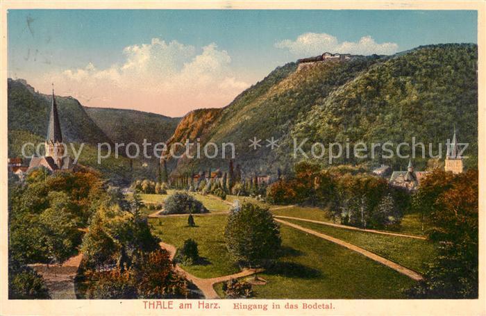 AK / Ansichtskarte Bodetal Harz Thale Panorama Kat. Treseburg