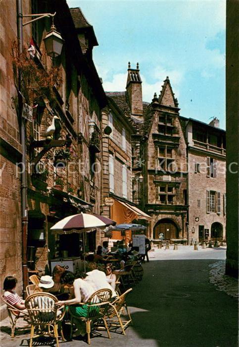 AK / Ansichtskarte Sarlat en Perigord Rue de la Liberte et Maison de la Boetie