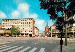 AK / Ansichtskarte Hildesheim Blick vom Hindenburgplatz in die Schuhstrasse Kat. Hildesheim