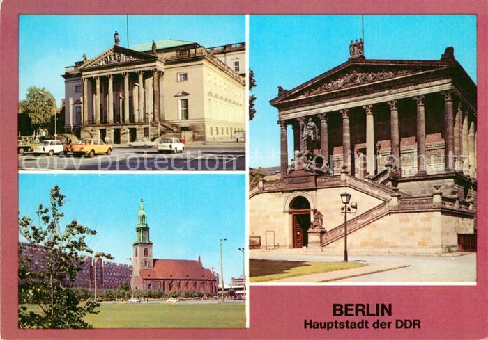 AK / Ansichtskarte Berlin Deutsche Staatsoper Marienkirche National Galerie Kat. Berlin