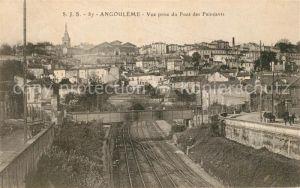 AK / Ansichtskarte Angouleme Vue prise du Pont des Faincants Kat. Angouleme