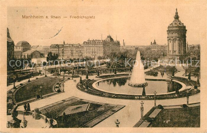 AK / Ansichtskarte Mannheim Friedrichsplatz Kat. Mannheim