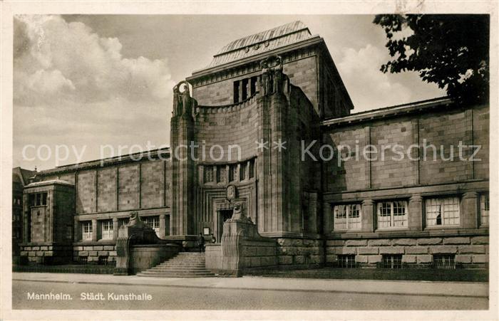 AK / Ansichtskarte Mannheim Kunsthalle Kat. Mannheim