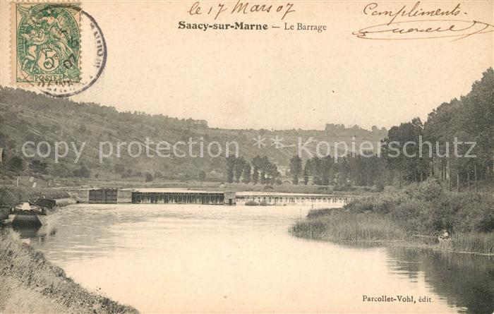 AK / Ansichtskarte Saacy sur Marne Le Barrage Kat. Saacy sur Marne