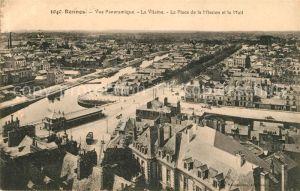 AK / Ansichtskarte Rennes Vue panoramique La Vilaine Place de la Mission et le Mail Kat. Rennes