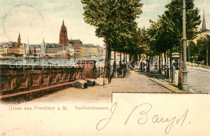 AK / Ansichtskarte Sachsenhausen Frankfurt Uferpromenade am Main Kat. Frankfurt am Main