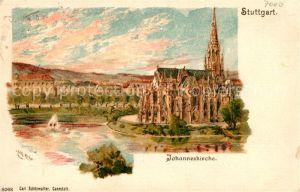 AK / Ansichtskarte Stuttgart Johanneskirche Litho Kat. Stuttgart