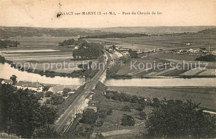 AK / Ansichtskarte Saacy sur Marne Pont du Chemin de fer Kat. Saacy sur Marne