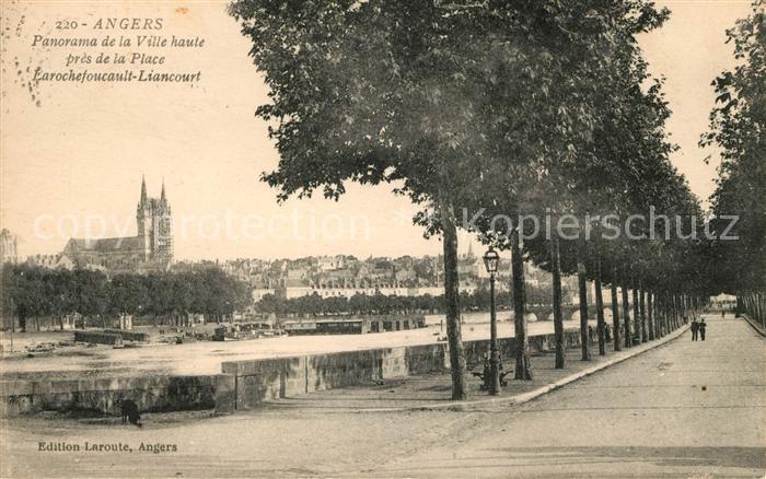 AK / Ansichtskarte Angers Panorama de la Ville haute pres de la Place Larochefoucault Liancourt Kat. Angers