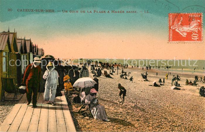 AK / Ansichtskarte Cayeux sur Mer Un coin de la plage a maree basse Kat. Cayeux sur Mer