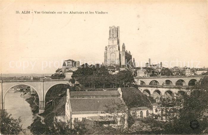 AK / Ansichtskarte Albi Tarn Vue generale sur les Abattoirs et les Viaducs Kat. Albi